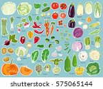 big set of colored label... | Shutterstock .eps vector #575065144