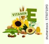 vitamin e vector illustration.... | Shutterstock .eps vector #575071093