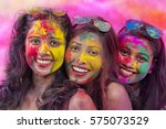 portrait of three young indian... | Shutterstock . vector #575073529