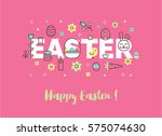 Modern Line Vector Easter...