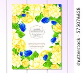 vintage delicate invitation... | Shutterstock .eps vector #575076628