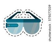 vr glasses smart technology cut ... | Shutterstock .eps vector #575077039