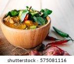 traditional thai food green...   Shutterstock . vector #575081116