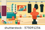 gym 01 flat colorful... | Shutterstock .eps vector #575091256