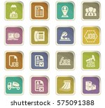 job search icon set for web... | Shutterstock .eps vector #575091388