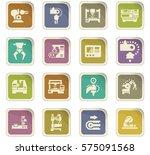 vector machine tool icons set.... | Shutterstock .eps vector #575091568