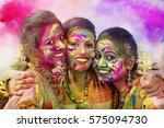 portrait of three young indian... | Shutterstock . vector #575094730