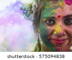 portrait of young indian woman... | Shutterstock . vector #575094838
