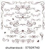 vintage wedding heading | Shutterstock .eps vector #57509740