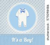 vintage baby shower invitation... | Shutterstock .eps vector #575098486