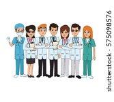 woman medical doctors | Shutterstock .eps vector #575098576