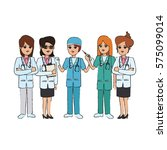 woman medical doctors | Shutterstock .eps vector #575099014