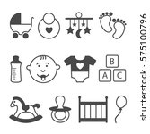 baby icons set. vector... | Shutterstock .eps vector #575100796