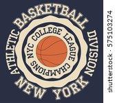 new york brooklyn sport... | Shutterstock .eps vector #575103274