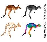 kangaroo polygonal low poly... | Shutterstock .eps vector #575106676