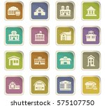 infrastucture of the city icon... | Shutterstock .eps vector #575107750