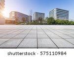 empty floor with modern... | Shutterstock . vector #575110984