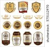 premium and luxury golden retro ... | Shutterstock .eps vector #575112970