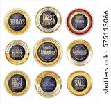 premium and luxury golden retro ... | Shutterstock .eps vector #575113066