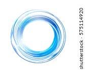 vector abstract blue light... | Shutterstock .eps vector #575114920