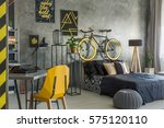 hipster flat in grey with... | Shutterstock . vector #575120110