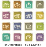 simple set of box and crates... | Shutterstock .eps vector #575123464