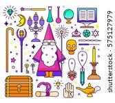 magic illustration. sparkle... | Shutterstock .eps vector #575127979