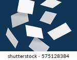 photo of business cards. mock... | Shutterstock . vector #575128384