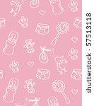 pattern with newborns... | Shutterstock .eps vector #57513118