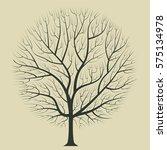 dark brown silhouette of a tree ... | Shutterstock .eps vector #575134978