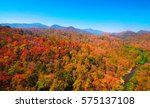 aerial view of autumn forest | Shutterstock . vector #575137108