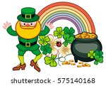 holiday label with shamrock ... | Shutterstock .eps vector #575140168
