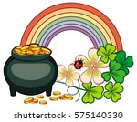 holiday label with shamrock ... | Shutterstock .eps vector #575140330