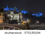 Blue Edinburgh Castle  Scotland