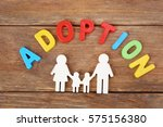word adoption and figure in... | Shutterstock . vector #575156380