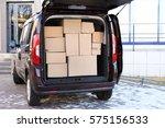office moving concept. cartoon... | Shutterstock . vector #575156533