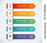 infographic arrows. 5 options ... | Shutterstock .eps vector #575158984
