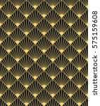 art deco style seamless pattern ... | Shutterstock .eps vector #575159608