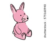 cute rabbit baby toy icon | Shutterstock .eps vector #575160940