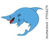the shark | Shutterstock .eps vector #57516274