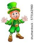 cartoon leprechaun st patricks... | Shutterstock .eps vector #575162980