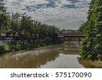 siem reap town in sunny day in... | Shutterstock . vector #575170090