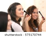 happy girls ready for hen party ... | Shutterstock . vector #575170744