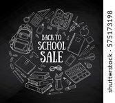 back to school sale background. ... | Shutterstock .eps vector #575173198