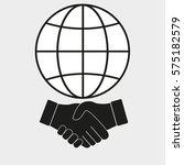handshake on a globe | Shutterstock .eps vector #575182579