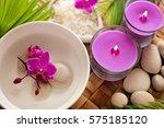 spa still life. aromatherapy... | Shutterstock . vector #575185120