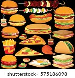 Fast Food Clip Art. Set Of...