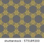ornamental seamless pattern.... | Shutterstock .eps vector #575189203
