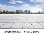 empty floor with modern... | Shutterstock . vector #575191099