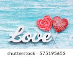 Candy Heart With 3d Text Love...